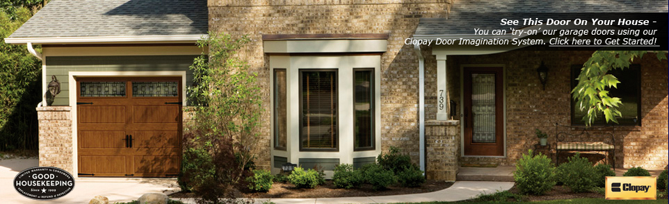 Faux wood carriage style garage doors youngstown oh d for Garage door repair grove city ohio